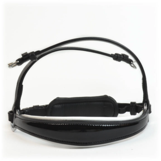 Bridle2Fit Drop Noseband Black Patent