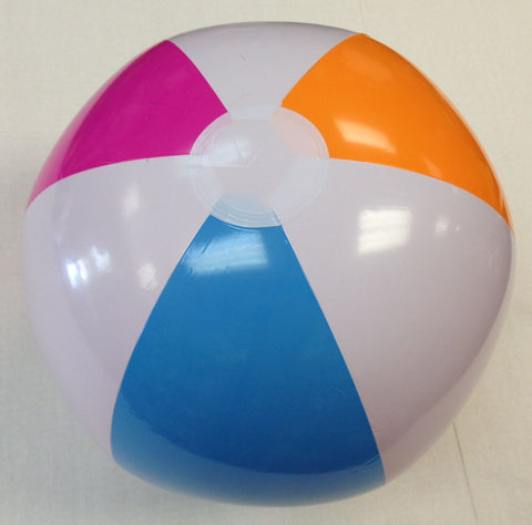 Multi Color Beach Ball 20 inch Inflatable 12 pieces
