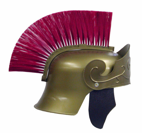 Roman Helmet With Red Brush