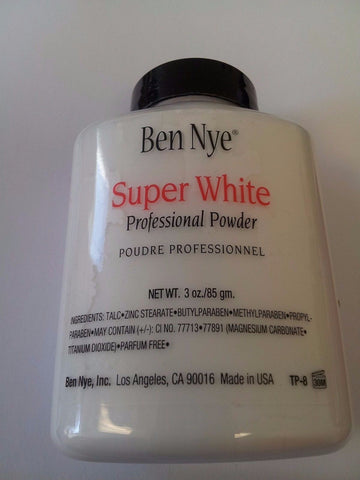 Ben Nye Super White powder 3 oz