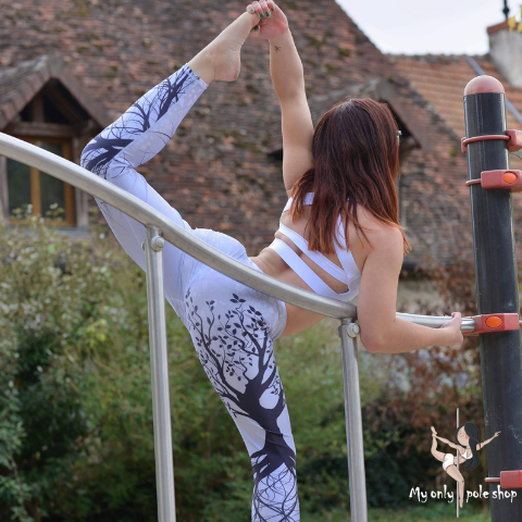 Legging yoga à motifs nature