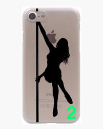Coque iPhone plastique solide figures pole dance 4 modèles