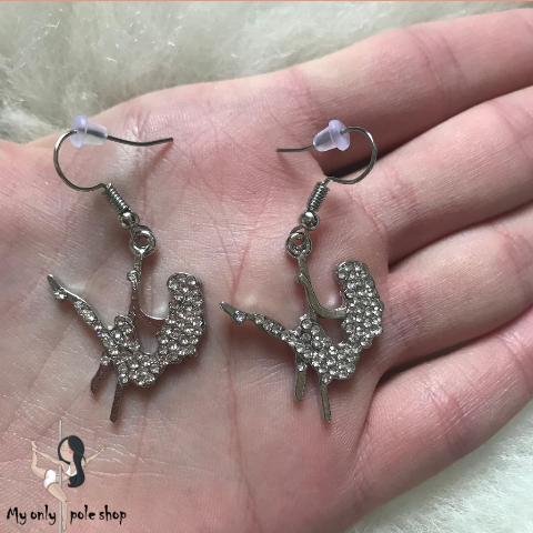 Boucles d'oreilles figure pole dance