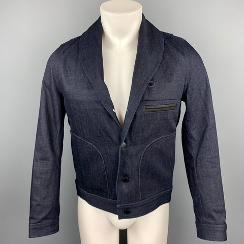 THE ARRIVALS Lykke Size S Indigo Denim Shawl Collar Jacket