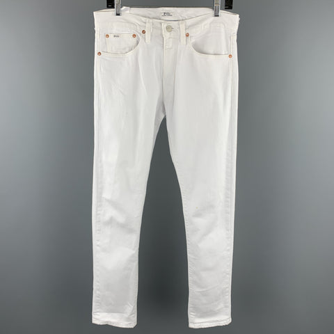 POLO by RALPH LAUREN The Sullivan Size 30 White Cotton / Elastane Jeans