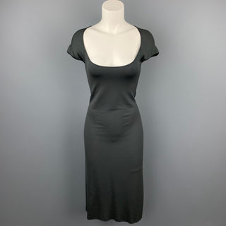 NARCISO RODRIGUEZ Size 8 Grey Jersey Rayon Blend A-Line Dress