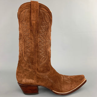 HERITAGE BOOT Size 10 Brown Suede Cowboy Boots