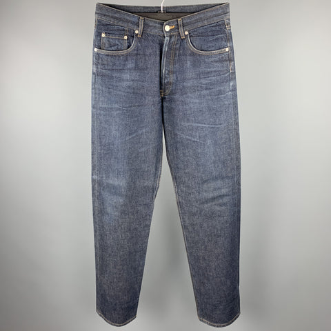DANIEL CLEARY Size 36 Indigo Wash Selvedge Denim Button Fly Jeans