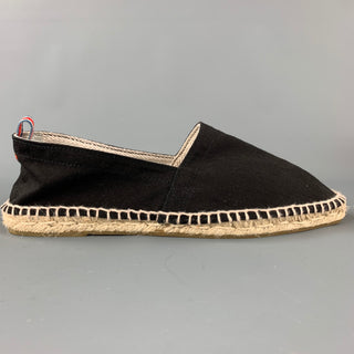 CASTANER Size 9 Black Canvas Espadrille Loafers