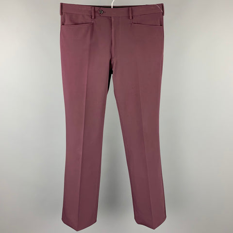PRADA Size 32 Purple Polyester Zip Fly Straight Leg Casual Pants