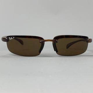 RAY-BAN Brown Acetate Polarized Sunglasses