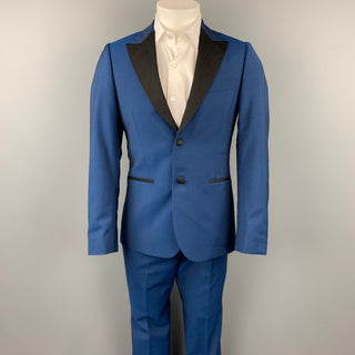 PAUL SMITH Soho Fit Size 38 Regular Royal Blue Wool / Mohair Tuxedo Suit