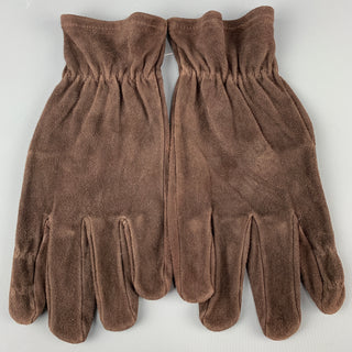Vintage GATES Size M Dark Brown Deer Skin Suede Gloves