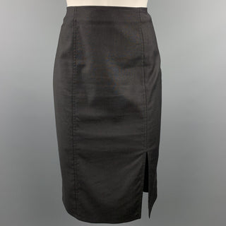 CHRISTIAN DIOR BOUTIQUE Size 6 Black Viscose Blend Pencil Skirt
