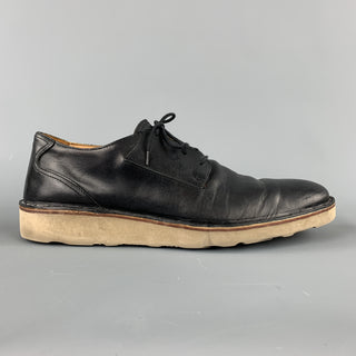 MAISON MARTIN MARGIELA Size 11 Black Leather Crepe Sole Lace Up