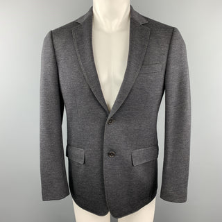 SALVATORE FERRAGAMO Size 36 Charcoal  Wool Blend Notch Lapel Pockets Sport Coat Jacket