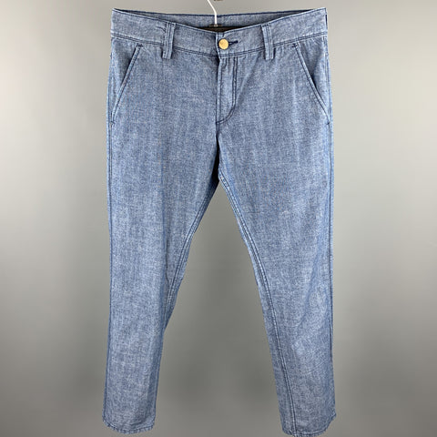 LEVI'S 511 Size 32 Indigo Heather Cotton Zip Fly Casual Pants