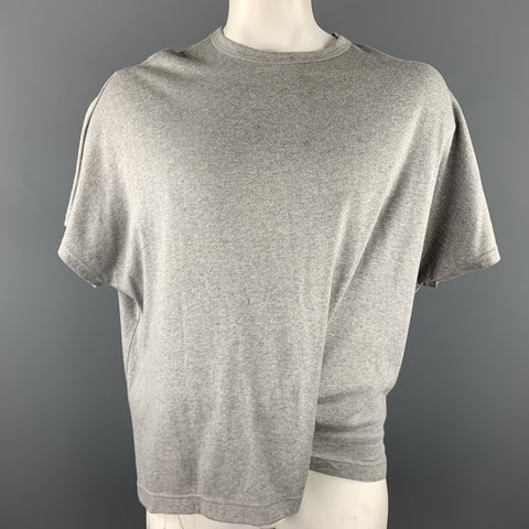 Y's by YOHJI YAMAMOTO Size One Size Light Grey Cotton T-shirt