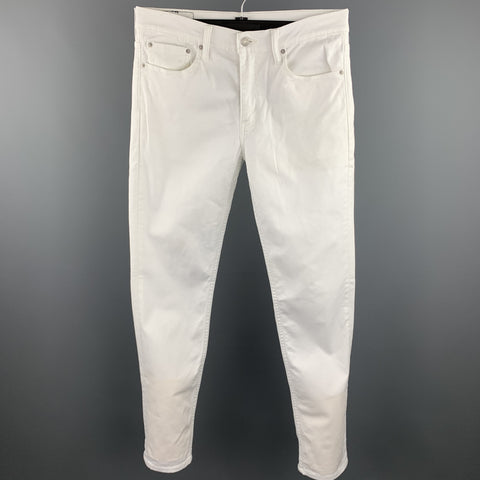LEVI'S 511 Size 32 White Denim Zip Fly Jeans