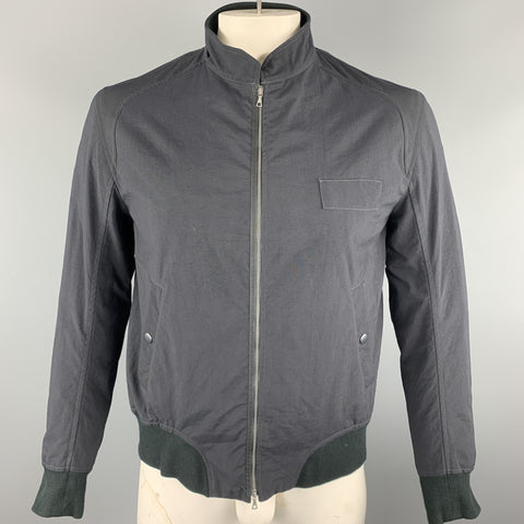 RAG & BONE Size 42 Black Solid Nylon Zip Up Jacket