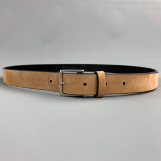 PAUL SMITH Size 38 Tan Nubuck Leather Belt