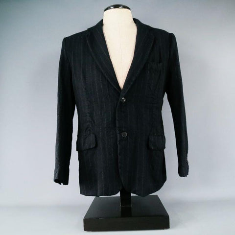 08SIRCUS by Kiminori Morishita 42 Regular Wool Navy Sport Coat - Sui Generis Designer Consignment