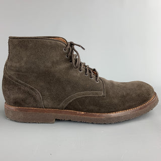 BROOKS BROTHERS Size 9.5 Brown Lace Up Ankle Boots