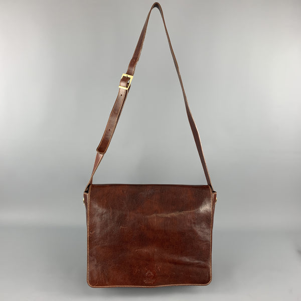 MANUFACTUS Cognac Leather Messenger Bag
