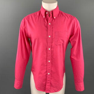 BAND OF OUTSIDERS Size S Pink Cotton Button Down Long Sleeve Shirt