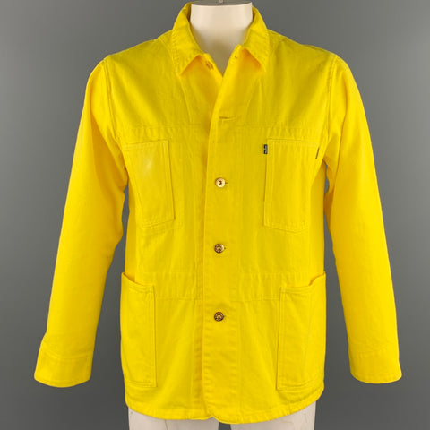 LEVI'S MADE & CRAFTED Size M Yellow Cotton Worker Jacket