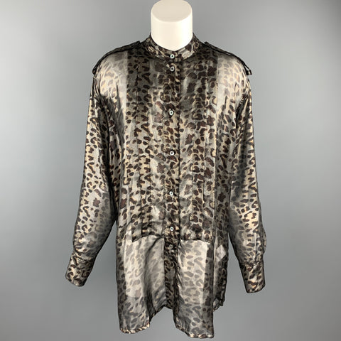 VIVIENNE WESTWOOD Size S Silver & Brown Polyester Shirt