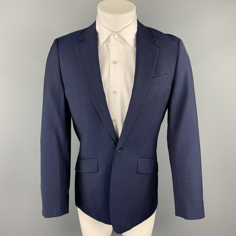 REISS Size 36 Short Navy Wool Notch Lapel Suit