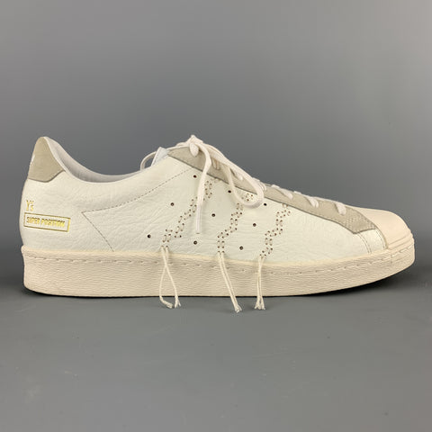 Y's ADIDAS Size 11 White Stitched Leather SUPER POSITION Sneakers