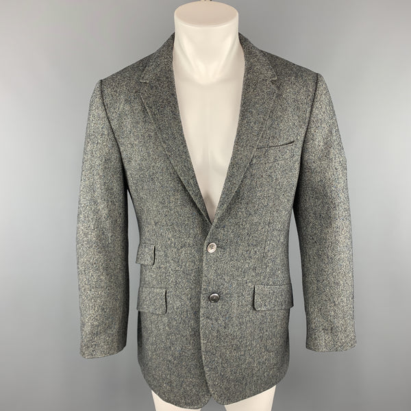 PAUL SMITH Chest Size 42 Nailhead Grey Wool / Cashmere Notch Lapel Sport Coat