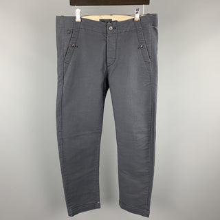 G-STAR Size 34 Charcoal Solid Cotton Casual Pants