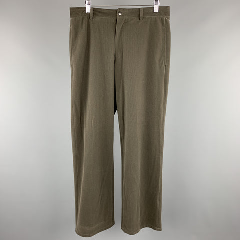 ARMANI COLLEZIONI Size 32 x 34 Slate Textured Polyester Dress Pants