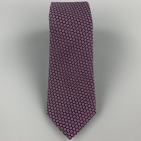 PAUL SMITH Purple Dot Silk Tie