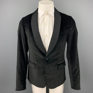 GUCCI Size 38 Regular Black Velvet Shawl Collar Sport Coat