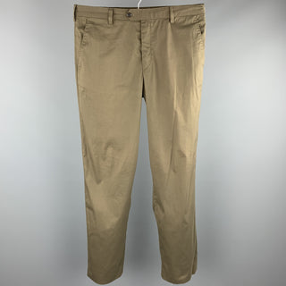 PRADA Size 34 Olive Cotton Blend Button Fly Casual Pants