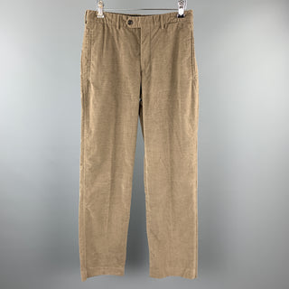 PRADA Size 30 Taupe Corduroy Zip Fly Casual Pants