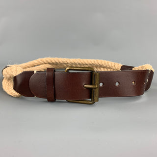PIAZZA SEMPIONE Size S Natural Rope Leather Belt