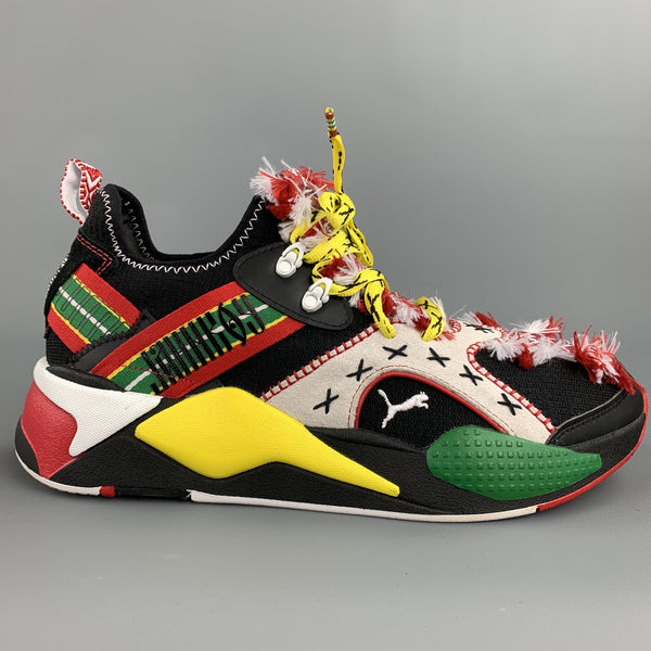 PUMA x JAHNKOY Size 10.5 Multi-Color Mixed Materials Lace Up Sneakers