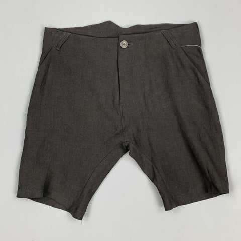 HANNIBAL Size 30 Black Linen Button Fly Shorts