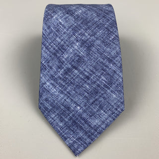 BRIONI Indigo Heather Silk Neck Tie