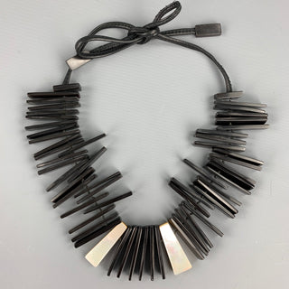 MONI Black Mixed Materials Necklace