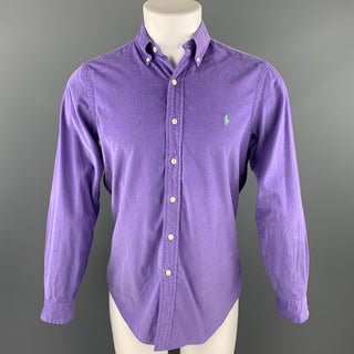 RALPH LAUREN Size S Purple Corduroy Button Down Long Sleeve Shirt