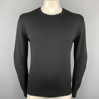 BELSTAFF Size XXL Black Knitted Wool Crew-Neck Pullover