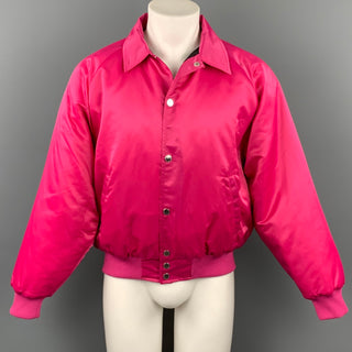 STOLEN GIRLFRIENDS CLUB Size M Pink Embroidered Nylon Bomber Jacket