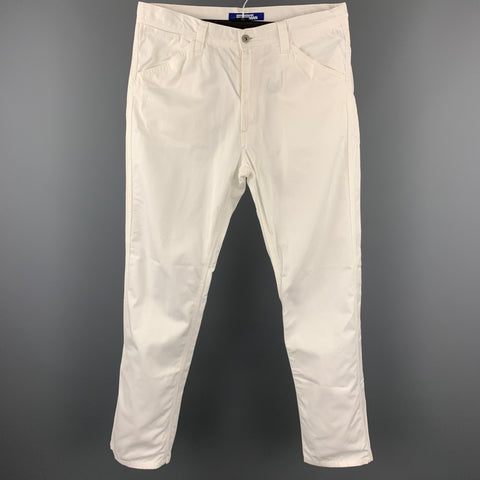 JUNYA WATANABE Size M White Cotton Zip Fly Casual Pants