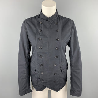 F W K Size M Black Nylon / Cotton Double Breasted Jacket